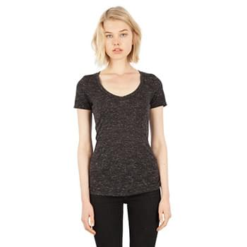 Ladies' 4.3 oz. Caviar Deep V-Neck T-Shirt