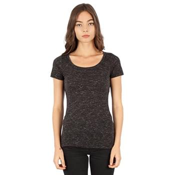 Ladies' 4.3 oz. Caviar Scoop Neck T-Shirt