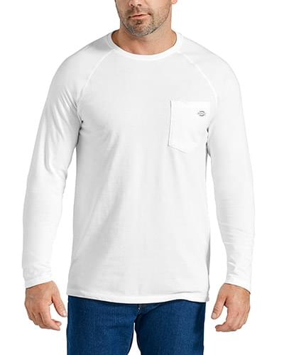 Men's Tall Temp-iQ Performance Cooling Long Sleeve Pocket T-Shirt