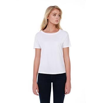 Ladies' 3.5 oz., 100% Cotton Boxy High Low T-Shirt