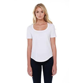Ladies' 3.5 oz., 100% Cotton U-Neck T-Shirt