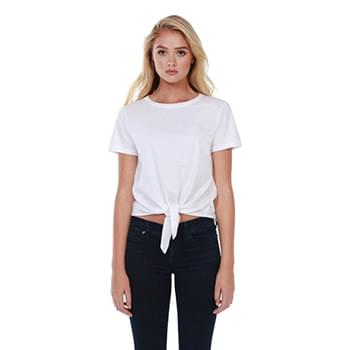 Ladies' Cotton Tie Front T-Shirt