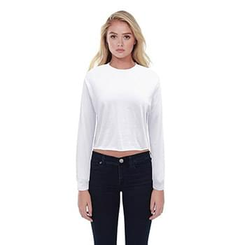 Ladies' Boyfriend Long Sleeve Crop T-Shirt