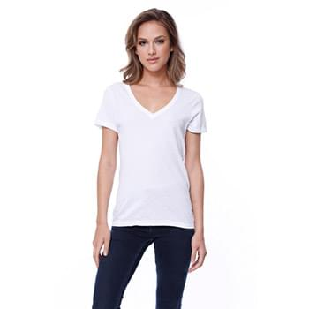 Ladies' Cotton V-Neck T-Shirt