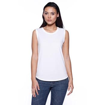 Ladies' CVC Sleeveless T-shirt