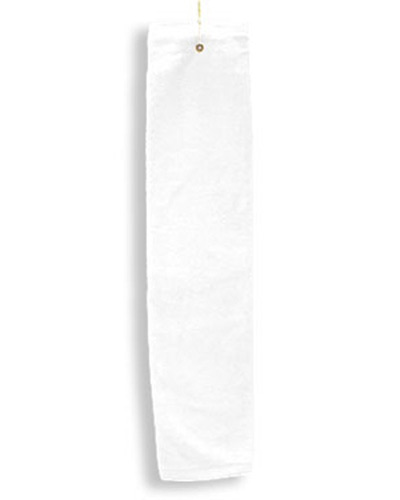 Deluxe Tri-Fold Hemmed Hand Towel with CenterGrommet and Hook