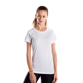 Ladies' 5.8 oz. Short-Sleeve Recover Yarn Crewneck