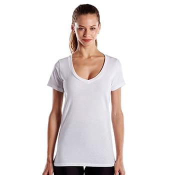 Ladies' Made in USA Short-Sleeve V-Neck T-Shirt