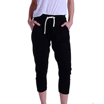 Ladies' 2x1 Ribbed Capri Sweatpant