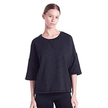 Ladies' Open Cross Back Drop Shoulder Sweatshirt