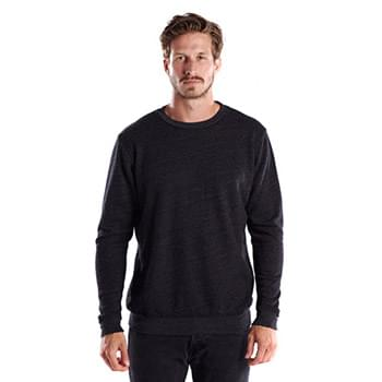 Unisex 6.5 oz. Heavyweight Loop Terry Triblend Long-Sleeve Crew