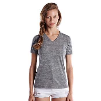 Ladies' 4.9 oz. Short-Sleeve Triblend V-Neck