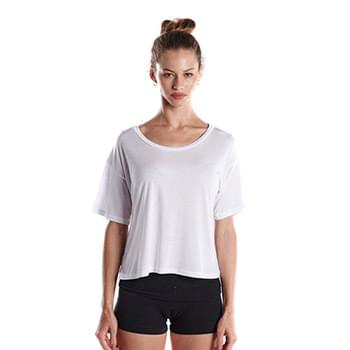 Ladies' 4.2 oz. Boxy Open Neck Top
