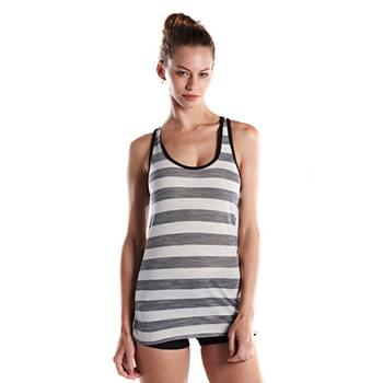 Ladies' 3.8 oz. Striped Slub Racer Tank