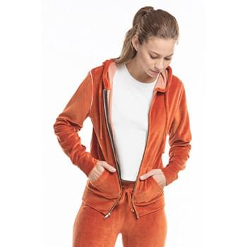 Ladies' Velour Full-Zip Hoodie