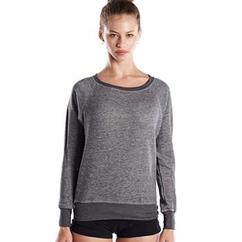Ladies' French Terry Raglan Boat Neck