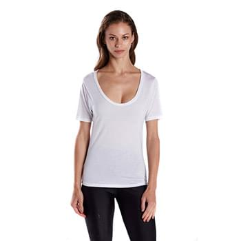 Ladies' 2.5 oz. Short-Sleeve Deep Scoop Neck Blouse