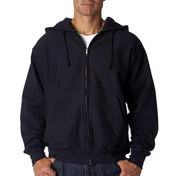 Adult Cross Weave Full-Zip Hooded Sweatshirt