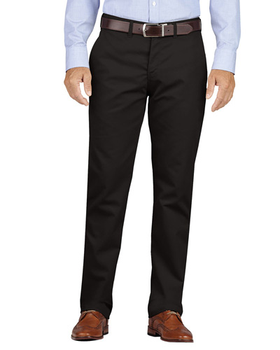 Men's KHAKI Slim Fit Tapered Leg Flat Front Pant