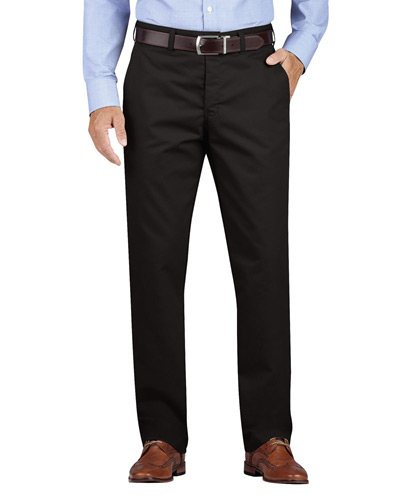 Men's KHAKI Regular Fit Tapered Leg Flat Front Pant