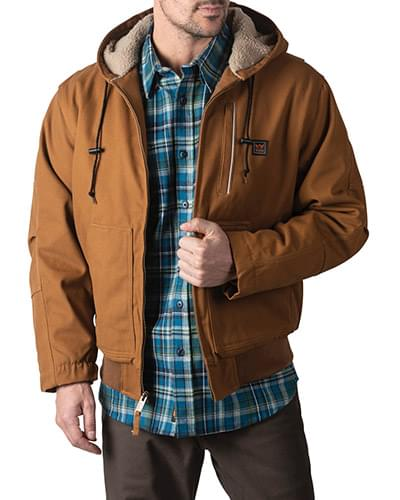Men's Mingus DWR Duck Hooded Bomber Work Jacket